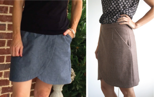 2 Liesl + Co. City Stroll Wrap Skirts