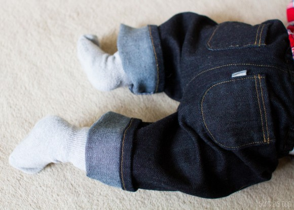 Oliver + S Lullaby Layette pants made into jeans