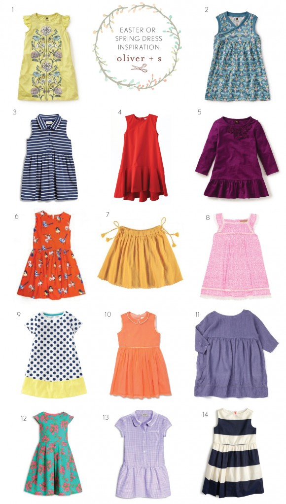 Inspiration for sewing Oliver + S dresses