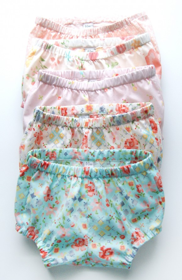 Oliver + S Tea Party bloomers in Woodland Clearing fabrics