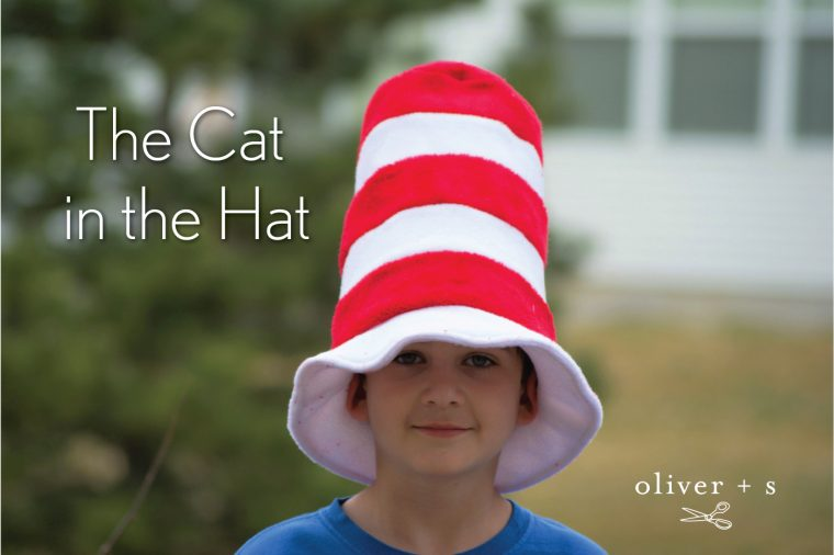 Cat in the Hat hat tutorial using the Oliver + S Reversible Bucket Hat free pattern