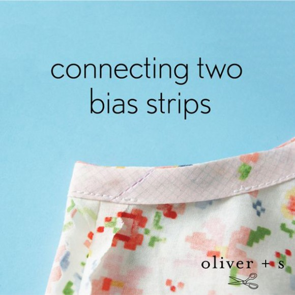 connecting two bias strips tutorial