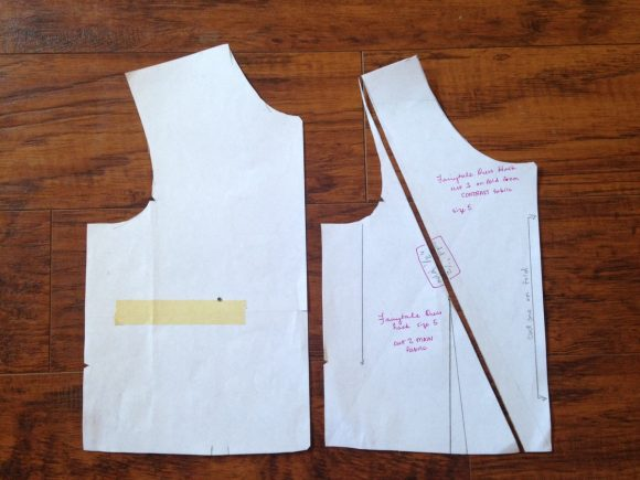 Adding a pleated section to the Oliver + S Fairy Tale Dress bodice