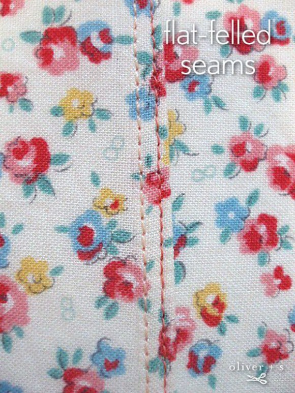 flat-felled seams tutorial on Pinterest
