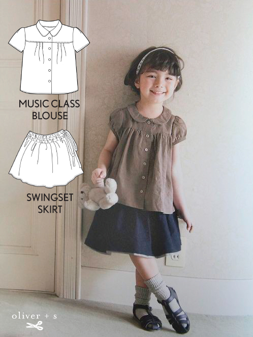 Oliver + S Music Class Blouse and Swingset Skirt