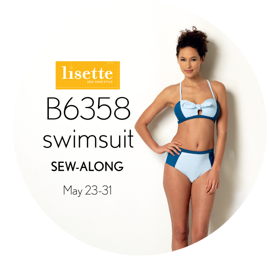 Lisette Swimsuit Sew-Along Badge
