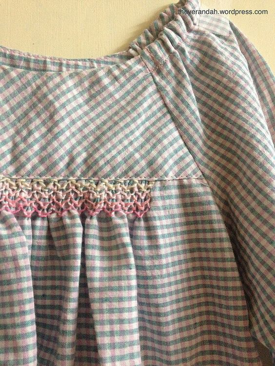 Faux smocked Class Picnic Blouse