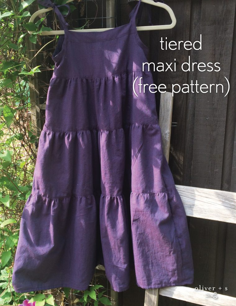 Tiered Maxi dress using the Oliver + S Popover Sundress (free pattern)