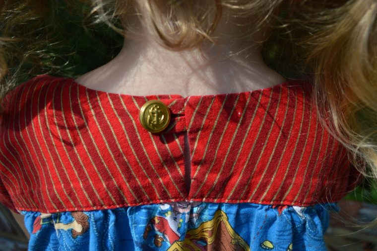 Button detail on the back of the Oliver + S Ice Cream Dress