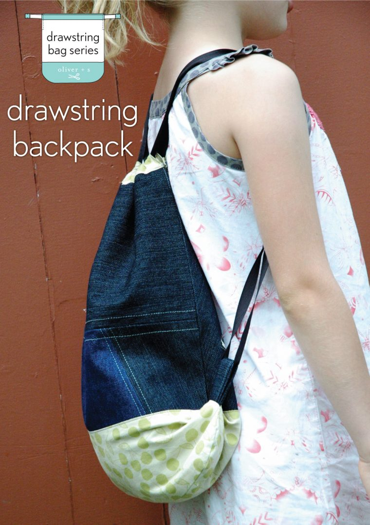 Make the Drawstring Bag from Oliver + S Little Things to Sew into a drawstring backpack