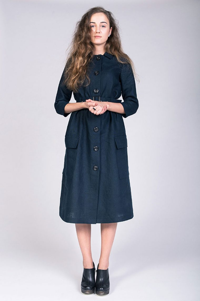 The Lempi Button Down Dress Pattern by Named Patterns