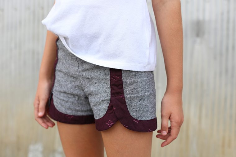 Oliver + S Class Picnic Shorts sewn by Noodlehead