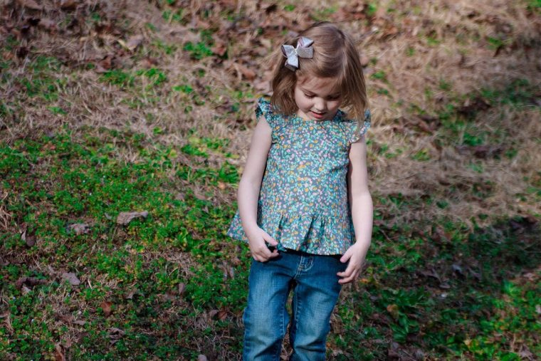 Oliver + S Butterfly Blouse in Woodland Clearing fabric