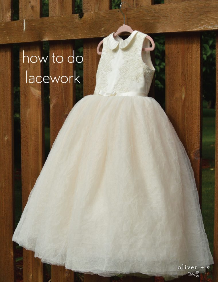 Lacework on a formal flower girl Oliver + S Fairy Tale Dress
