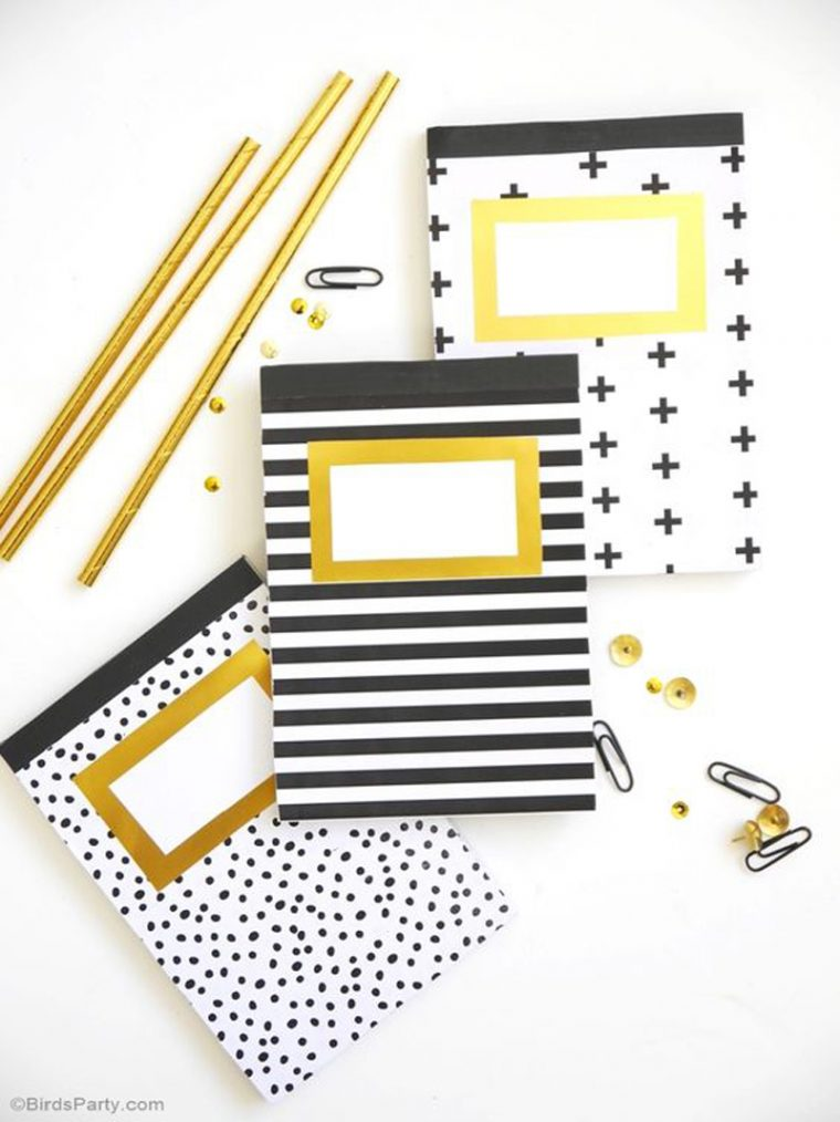 back-to-school notebook embellishment