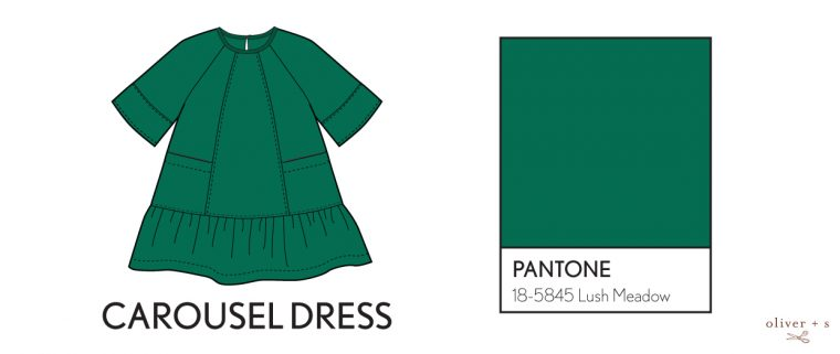 Oliver + S Carousel Dress in Pantone fall colors