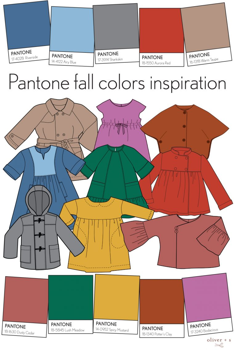 Pantone fall 2016 colors and Oliver + S sewing patterns