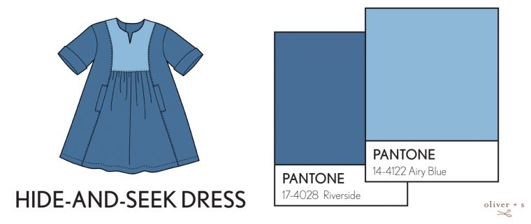 Oliver + S Hide-and-Seek Dress in Pantone fall 2016 colors
