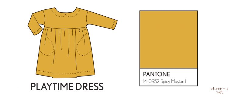 Oliver + S Playtime Dress in Pantone fall colors