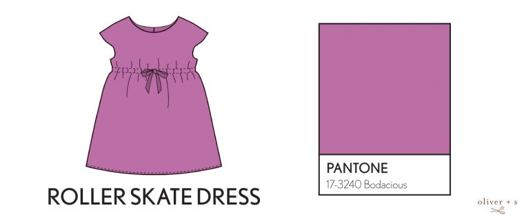 Oliver + S Roller Skate Dress in Pantone fall colors