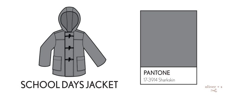 Oliver + S School Days Jacket in Pantone fall colors