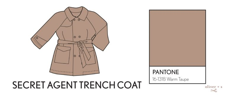 Oliver + S Secret Agent Trench Coat in Pantone fall colors