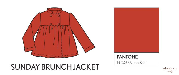 Oliver + S Sunday Brunch Jacket in Pantone fall colors
