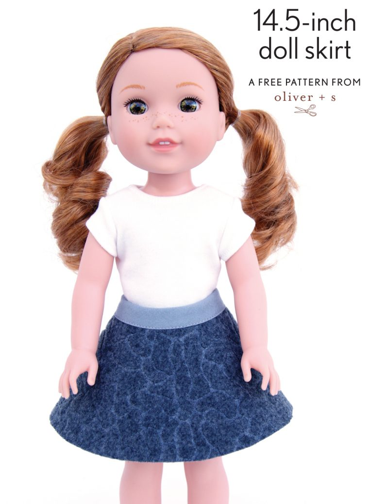 14.5-inch doll skirt (free pattern)