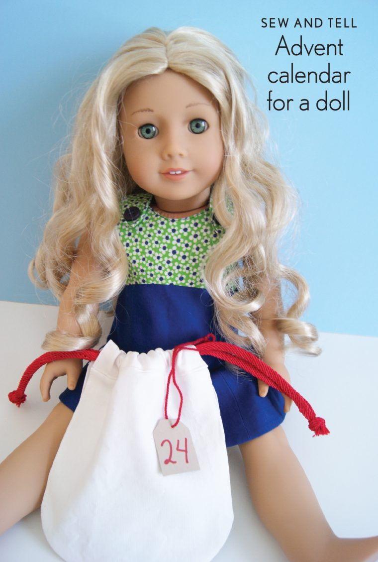 Oliver + S Tea Party doll dress and Drawstring bag from Little Things to Sew