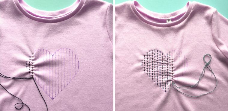 Sashiko heart project