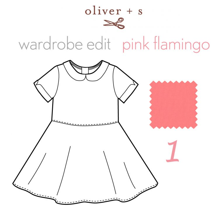 Oliver + S Building Block Dress in Pink Flamingo