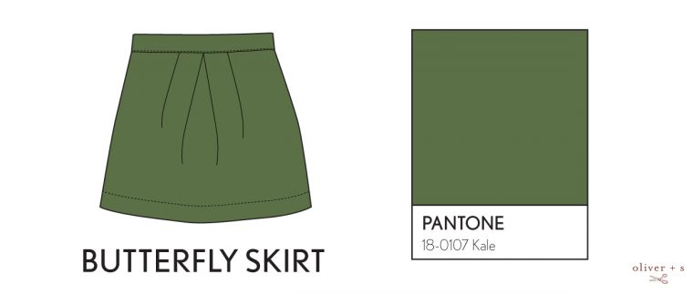 Oliver + S Butterfly Skirt in Pantone spring 2017 color