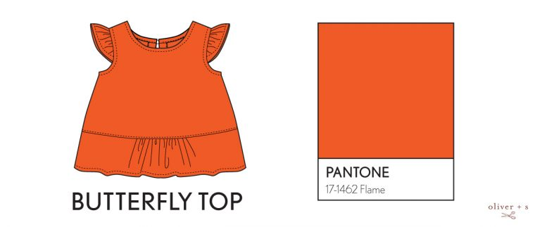 Oliver + S Butterfly Blouse in Pantone spring 2017 color