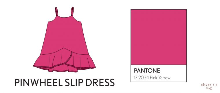 Oliver + S Pinwheel Slip dress in Pantone spring 2017 color