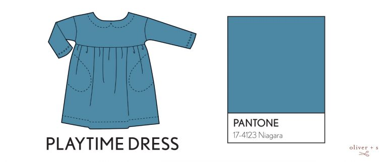 Oliver + S Playtime dress in Pantone spring 2017 color