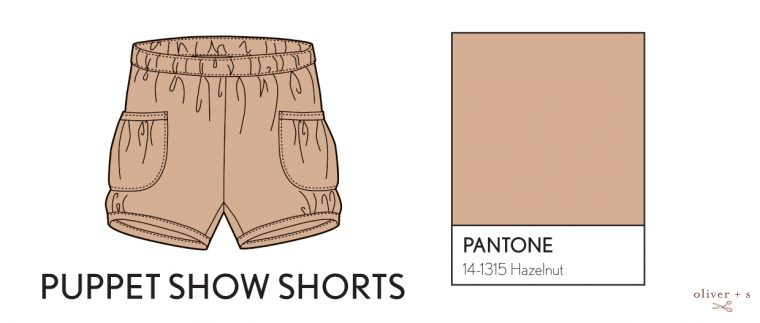 Oliver + S Puppet Show shorts in Pantone spring 2017 color