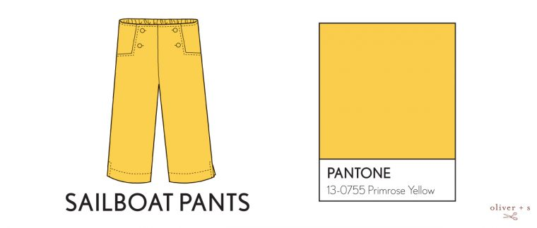 Oliver + S Sailboat pants in Pantone spring 2017 color