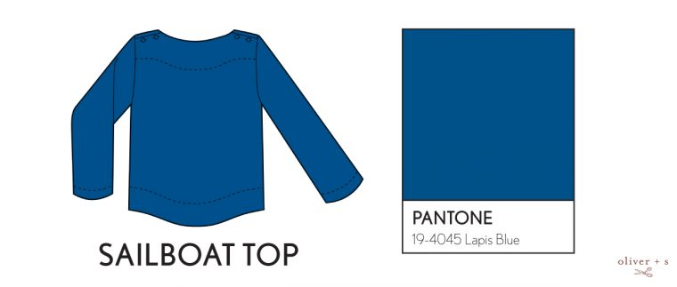Oliver + S Sailboat top in Pantone spring 2017 color