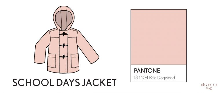 Oliver + S School Days rain coat in Pantone spring 2017 color