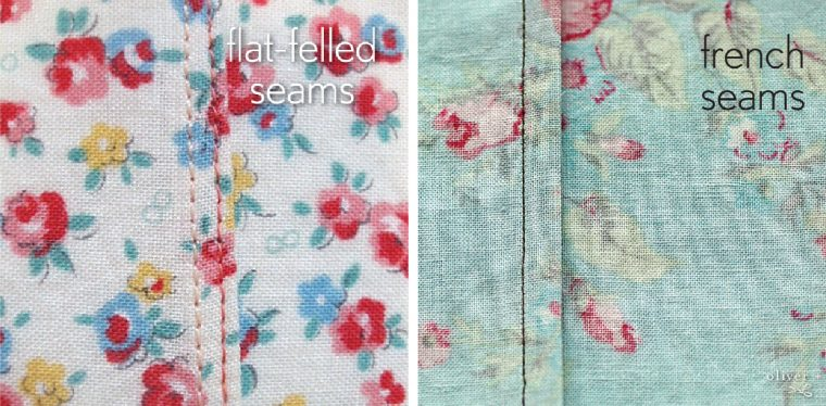 flat-felled and French seams
