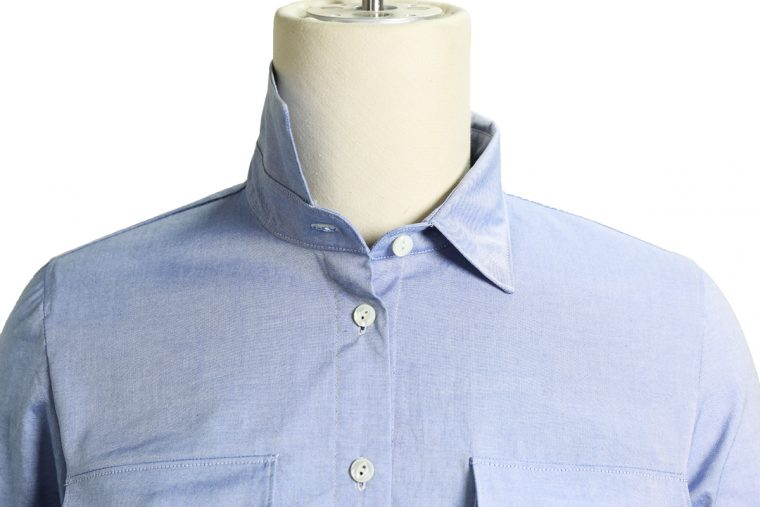 Liesl + Co Classic Shirt sewing pattern collar detail