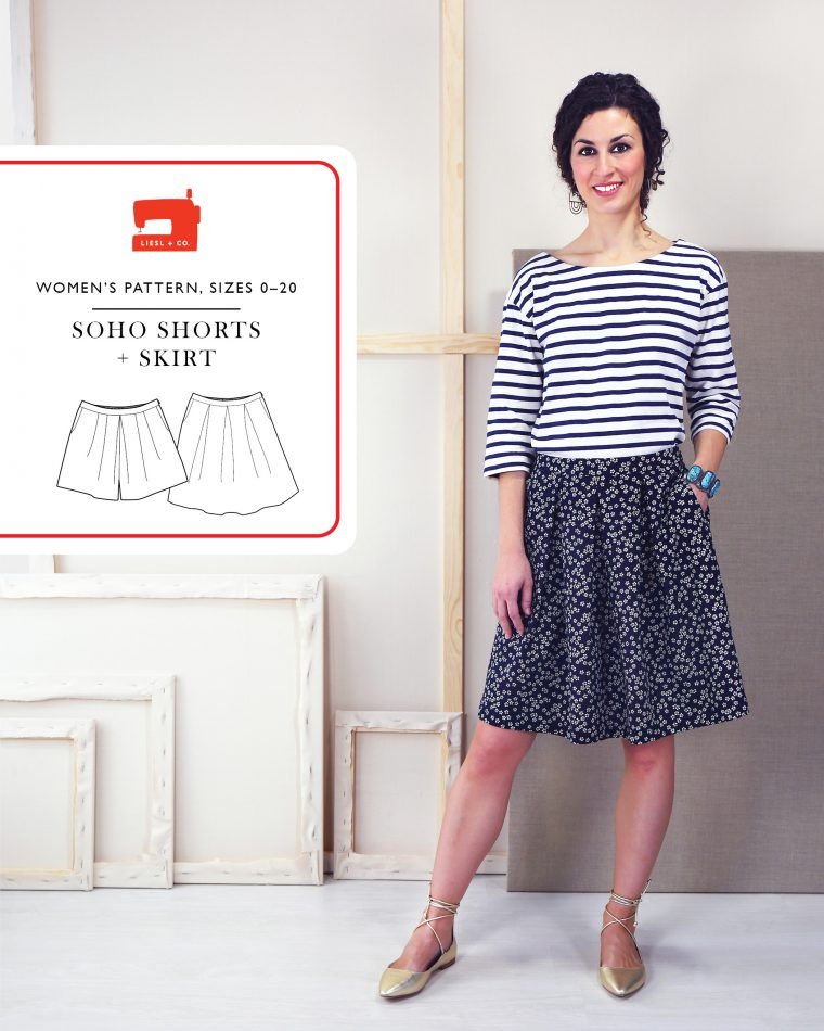 Liesl + Co SoHo Shorts + Skirt sewing pattern