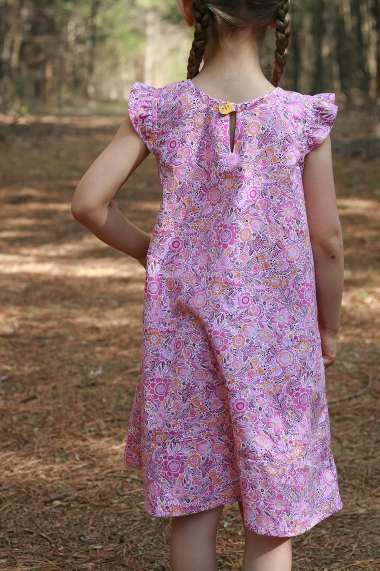 Oliver + S Butterfly Blouse turned into a dress