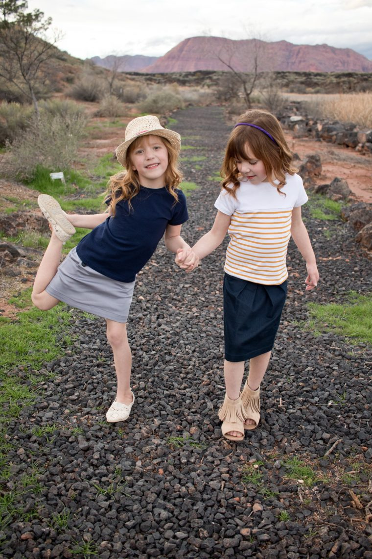 Oliver + S School Bus T-shirts, Sailboat Skirt, Butterfly Skirt