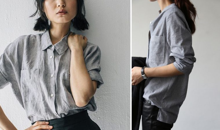 Liesl + Co Classic Shirt sewing pattern styling ideas: texture