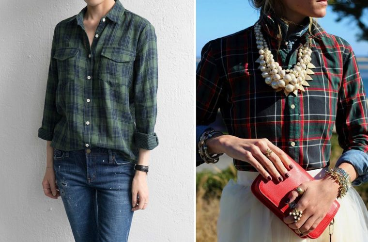 Liesl + Co Classic Shirt sewing pattern styling ideas: plaids and tartans