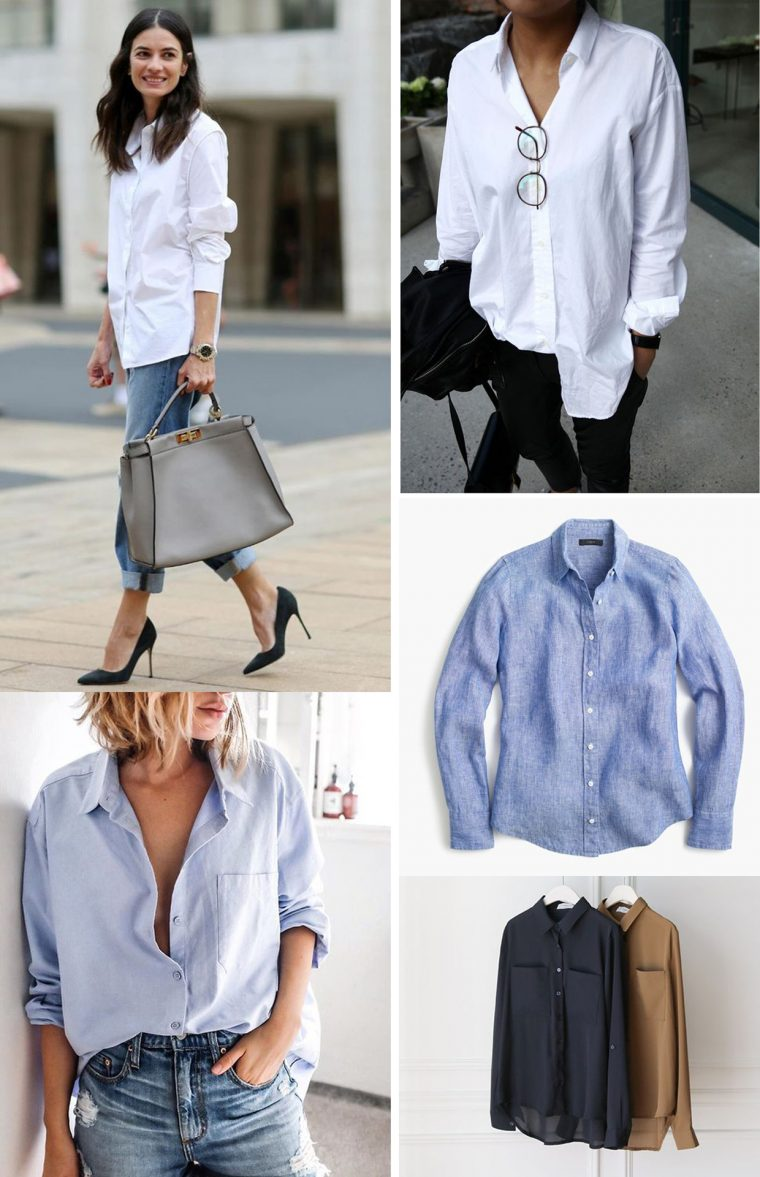 Liesl + Co Classic Shirt sewing pattern inspiration: classic white shirt
