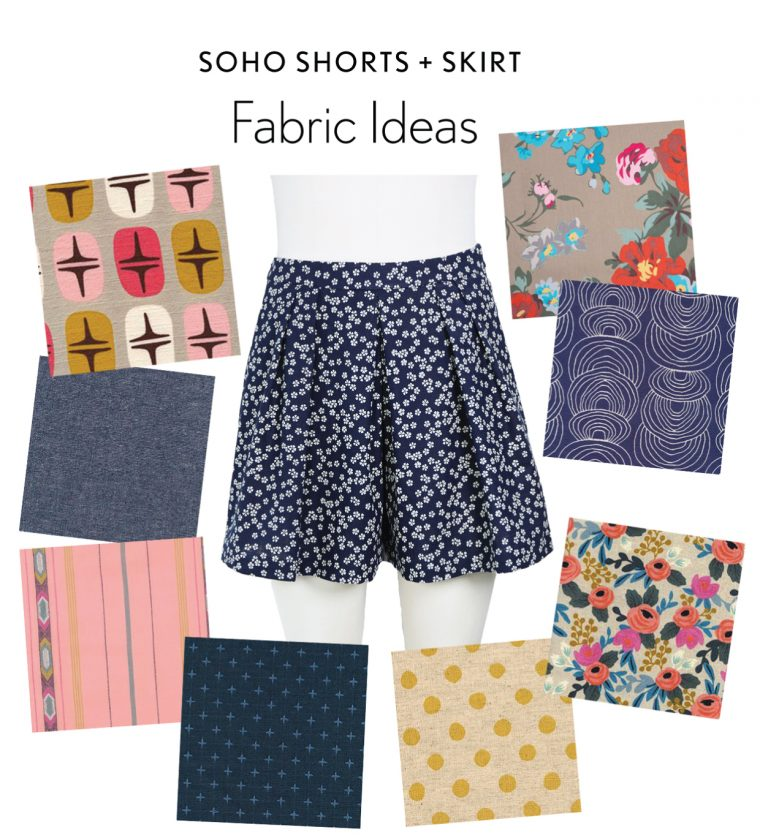 Liesl + Co SoHo Shorts + Skirt fabric ideas