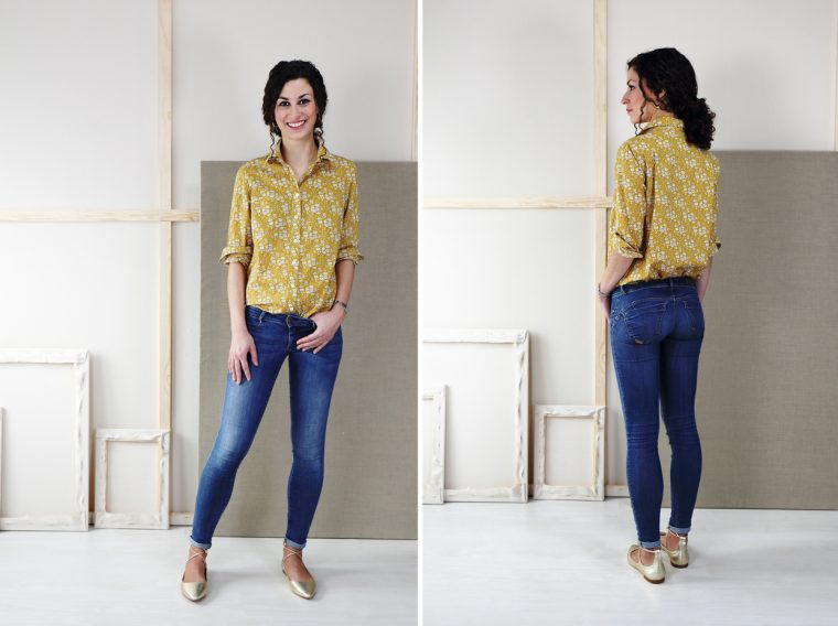 Liesl + Co Classic Shirt sewing pattern in Liberty of London lawn