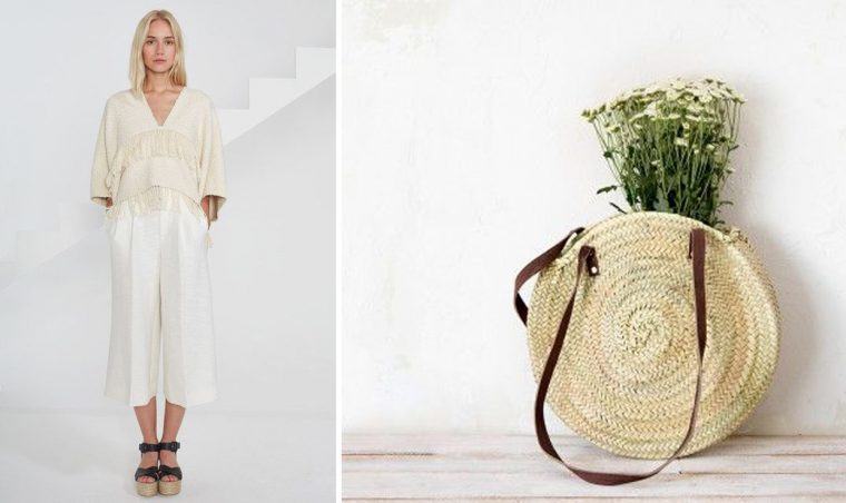 fringed top and Spanish basket bag